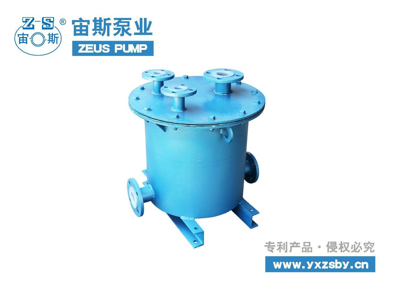 宙斯泵业钢衬塑虹吸桶